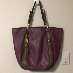 STEVEN Large Leather Tote